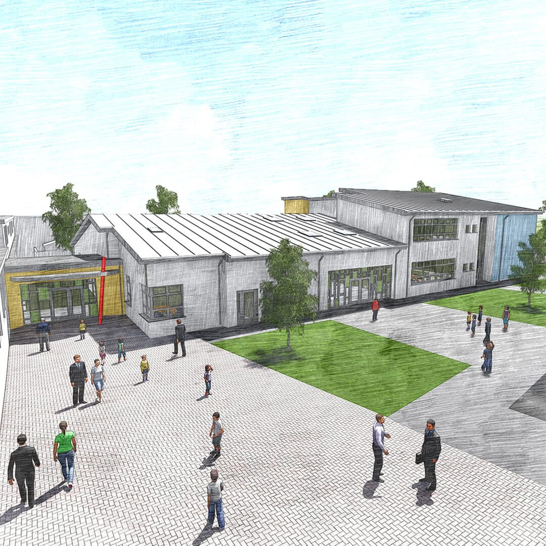 Education Cjfa Architecture Glor Na Mara N S  Extension Tramore Co  Waterford Square