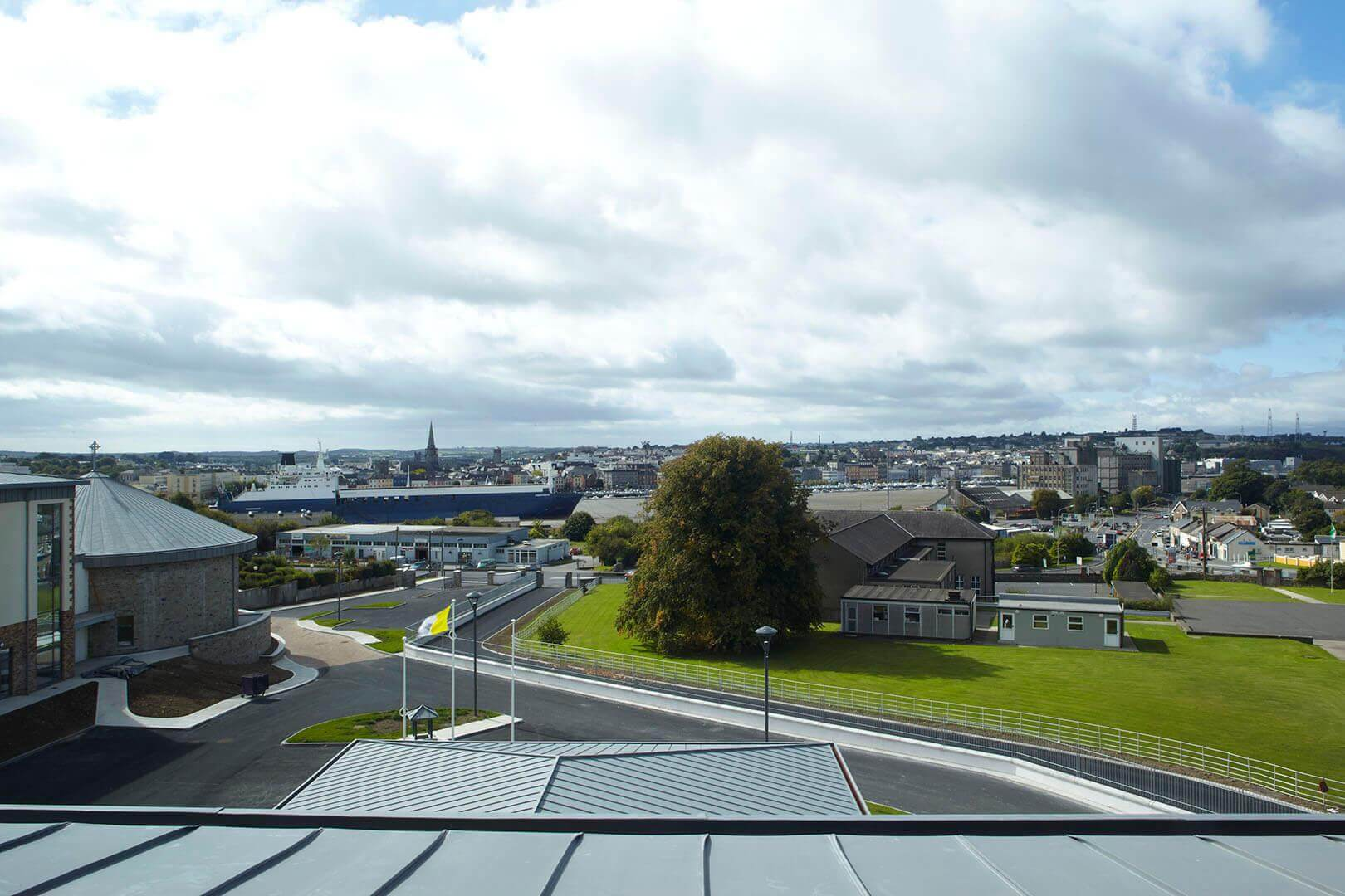 View of Waterford City Quays, from Little Sisters of the Poor, Convent & Care-Home, Ferrybank, Co. Waterford, Ireland