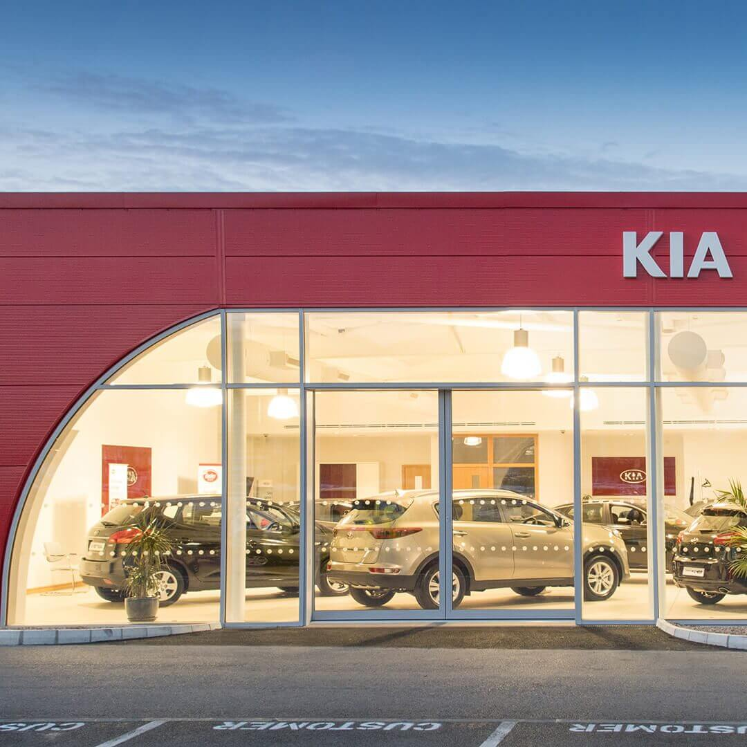 Mixed Use Retail Cjfa Architecture Kia Dooley Motors Square 1