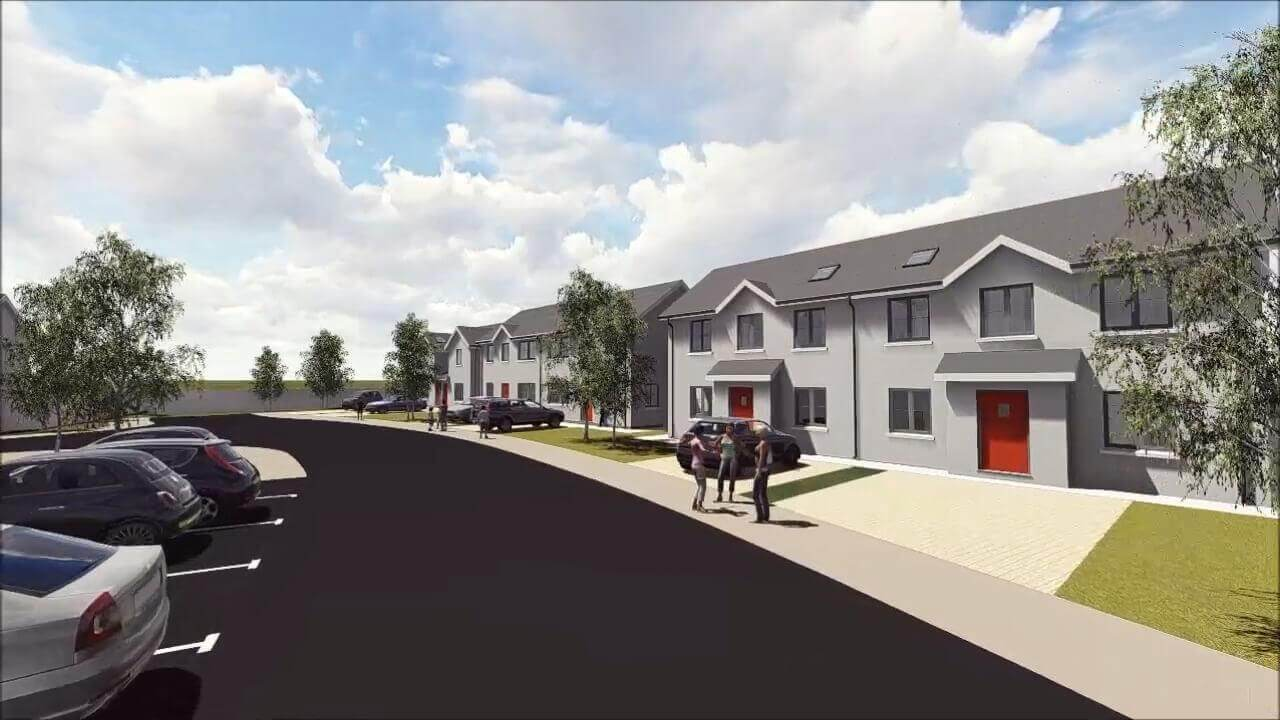 Housing Development, Ballinroad, Dungarvan, Co. Waterford, Ireland